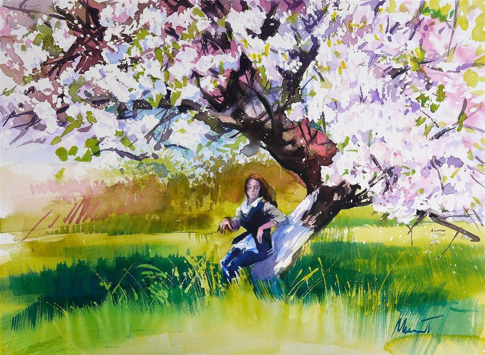 """apple tree"" original fine art by Beata Musial-Tomaszewska"