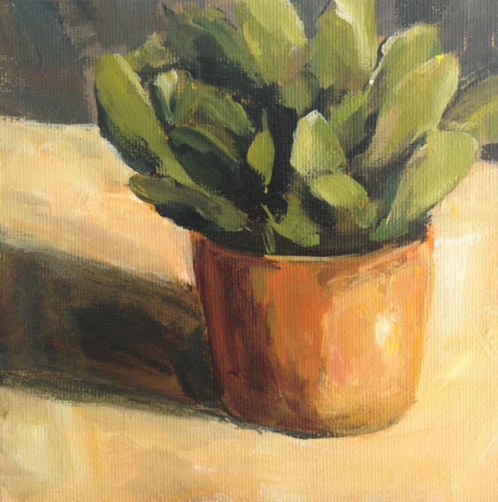 """""""Paddle Plant"""" original fine art by Shannon Bauer"""