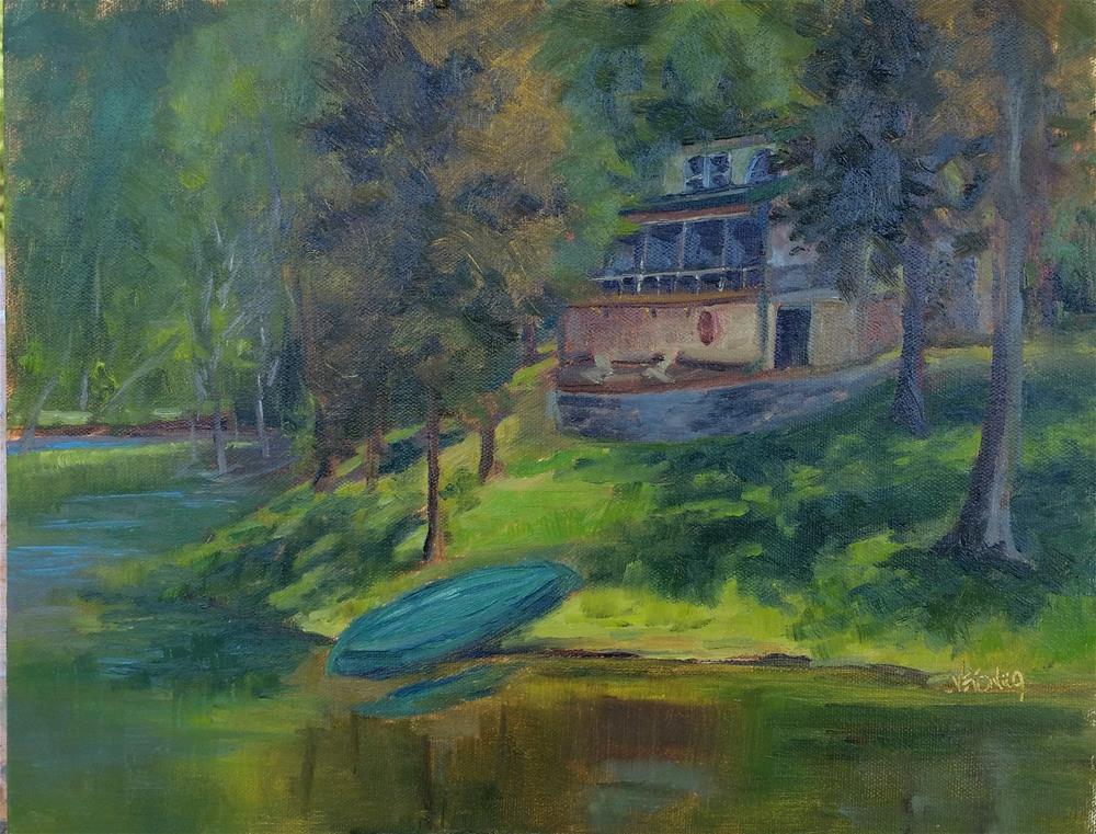 """Boyer's cabin in the woods"" original fine art by Veronica Brown"