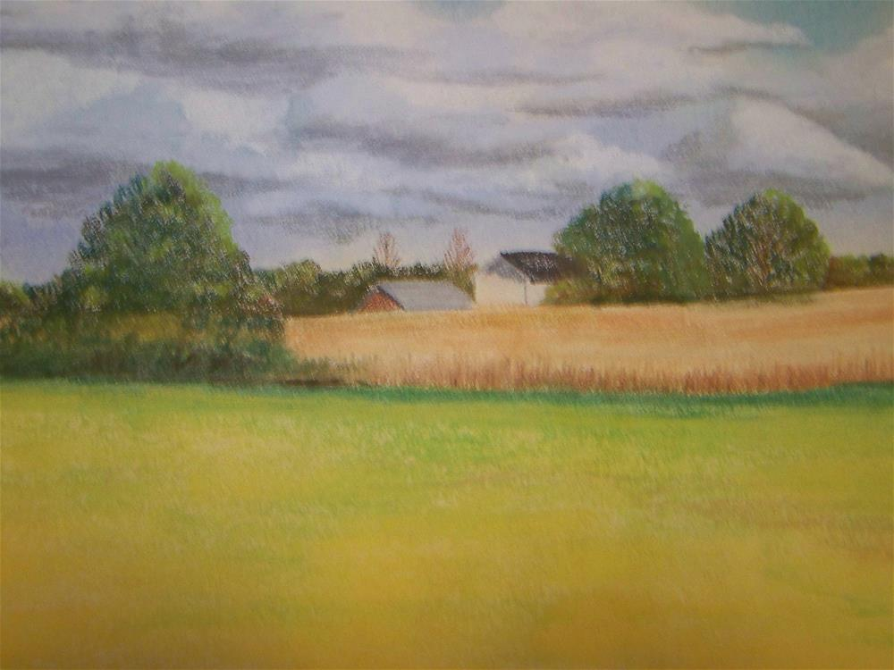 """The Wheat is Ready"" original fine art by Elaine Shortall"