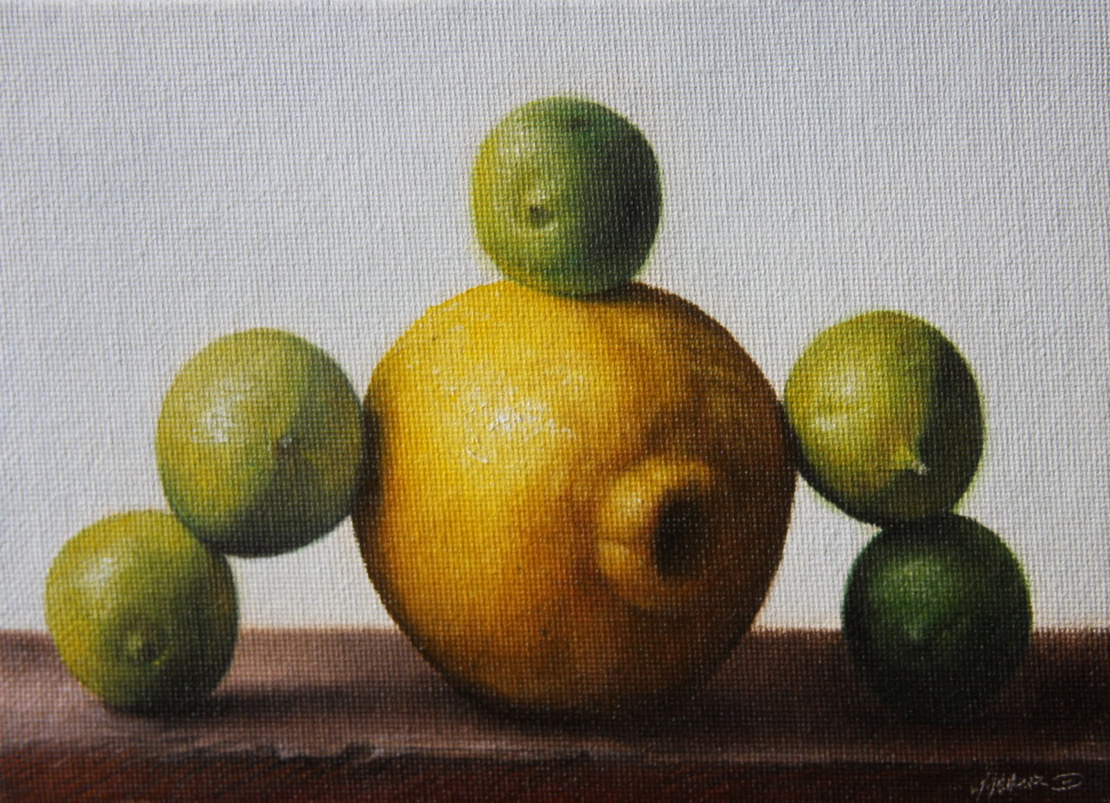 """Limes over Lemon"" original fine art by Jonathan Aller"