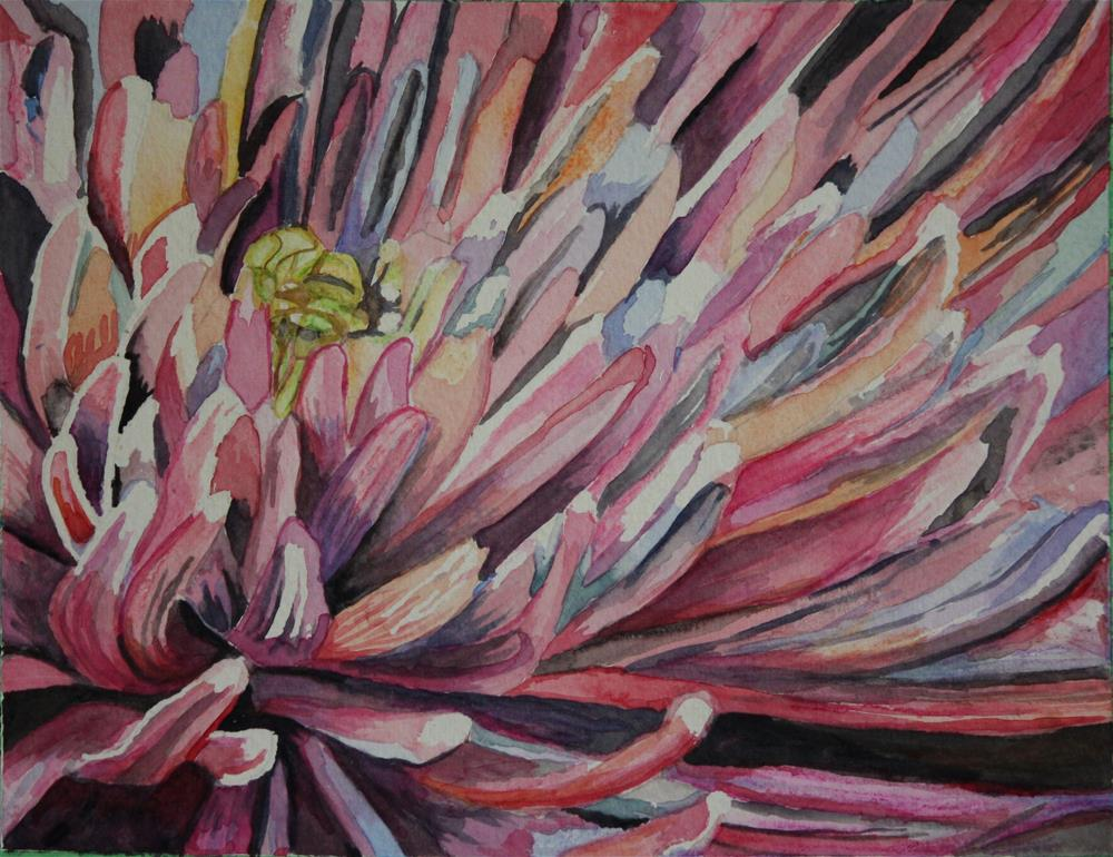 """Chrysanthemum"" original fine art by Terri-Anne Barge"