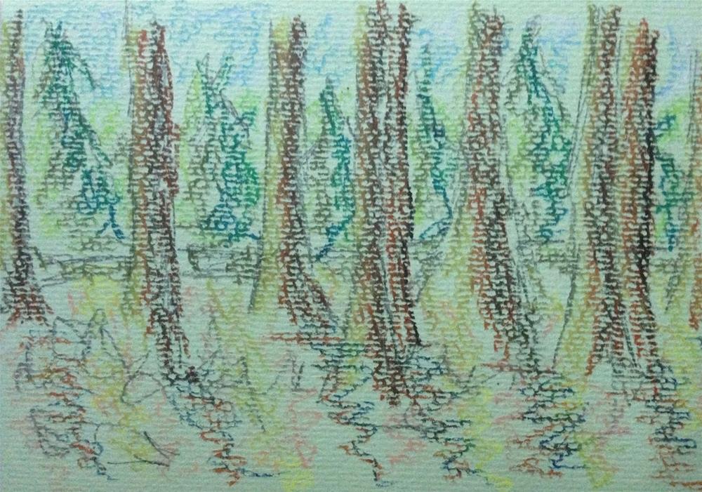 """""""Totally In"""" original fine art by Dotty  Seiter"""