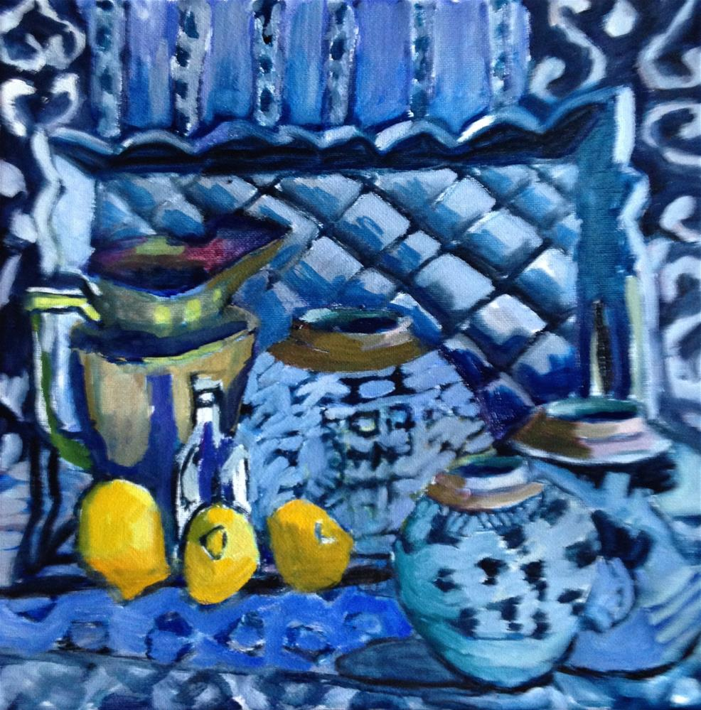 """Sedentary Lemons"" original fine art by Pamela Hoffmeister"