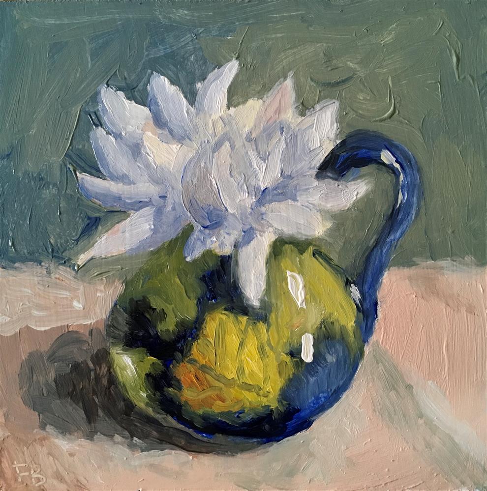 """244 White Flower"" original fine art by Fred Bell"