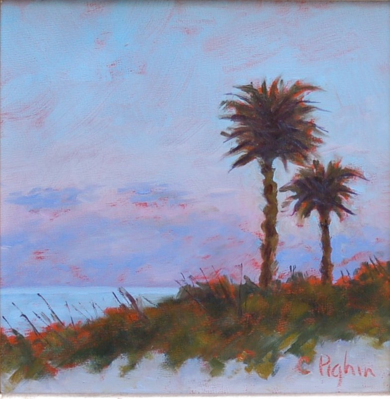 """Sunset on the Beach"" original fine art by Carol Pighin"