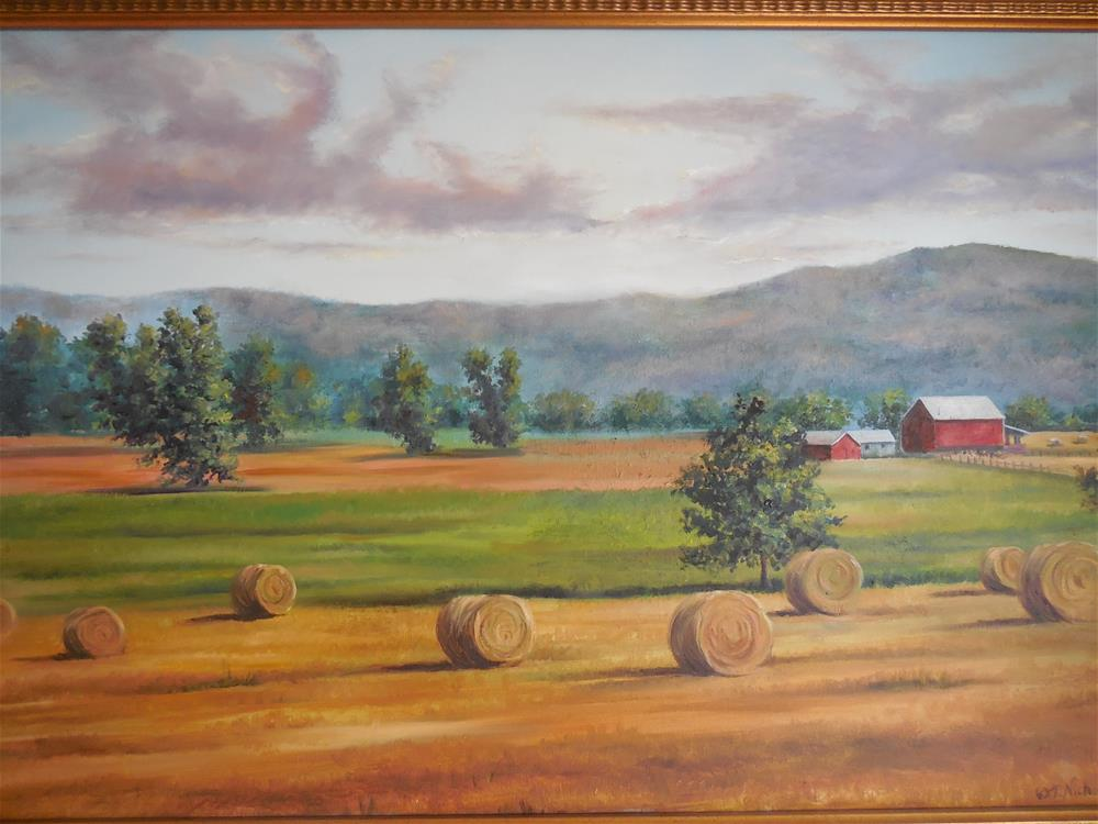 """""""Hayrolls"""" original fine art by Terri Nicholson"""