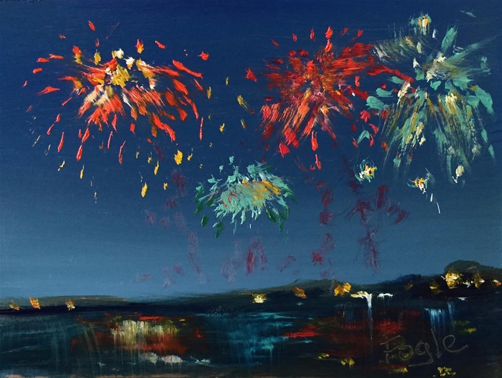 """15-12 Celebrate"" original fine art by Rachel Fogle"