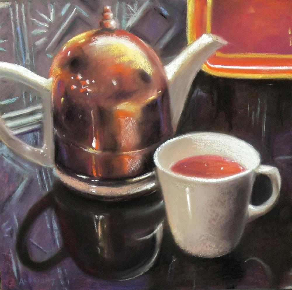"""Copper Cozy"" original fine art by Judy Albright"