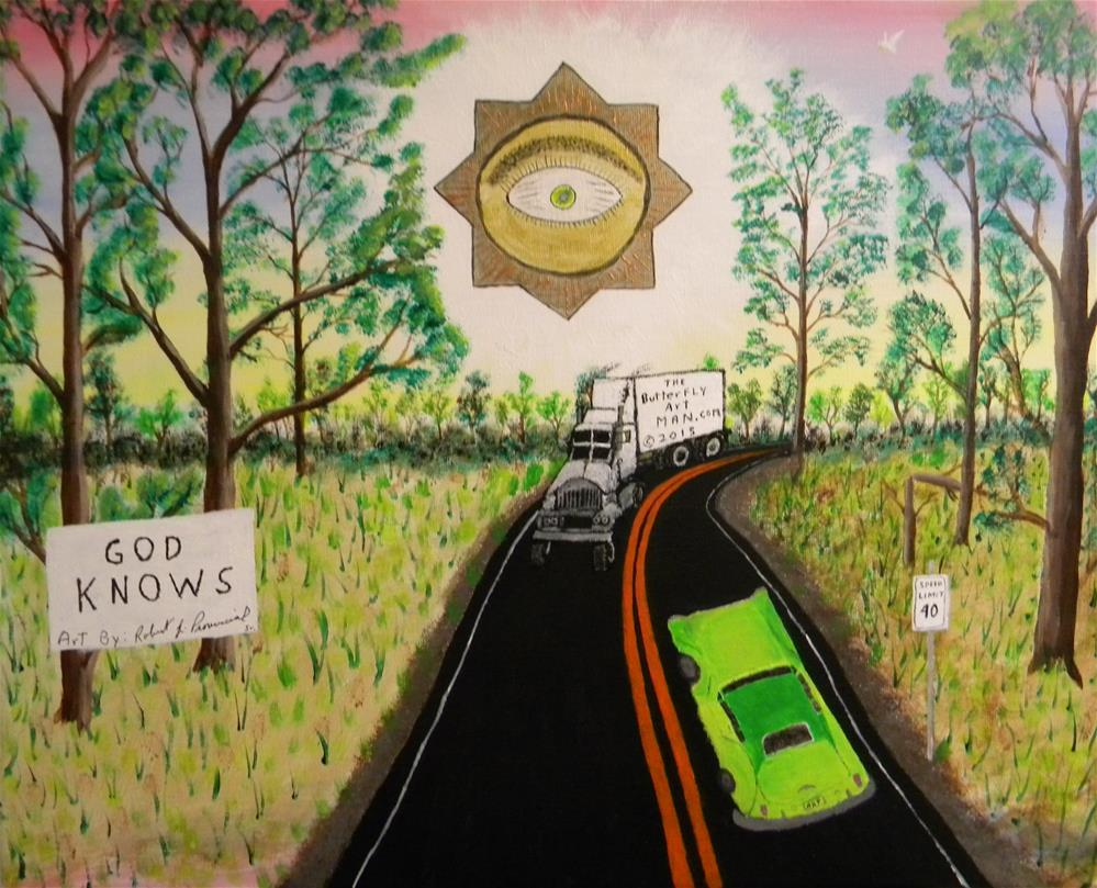 """God Knows"" original fine art by Robert Provencial"