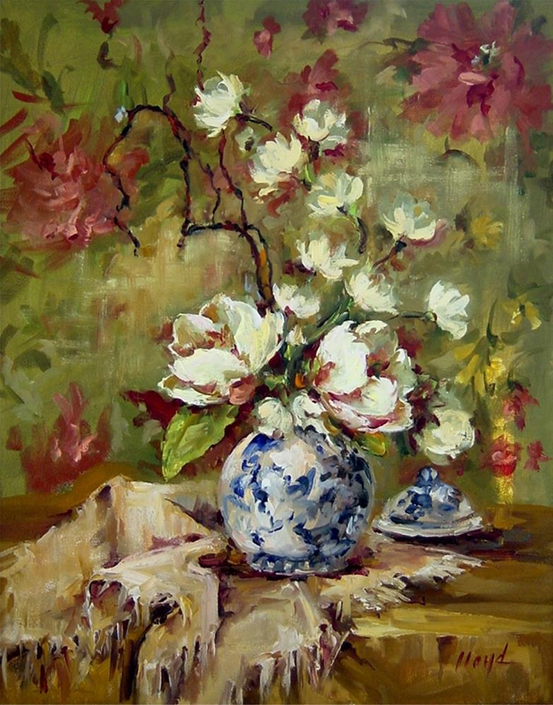 """Magnolias"" original fine art by Diane Lloyd"