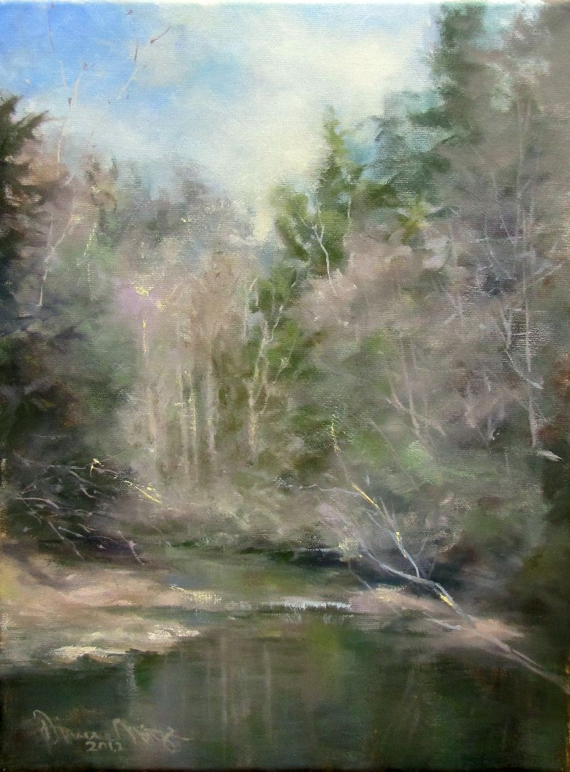 """Quiet January"" original fine art by Dianne Mize"