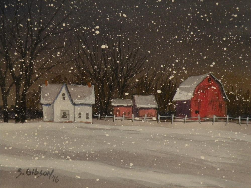"""Mark Creston's Farm"" original fine art by Steve Gibson"