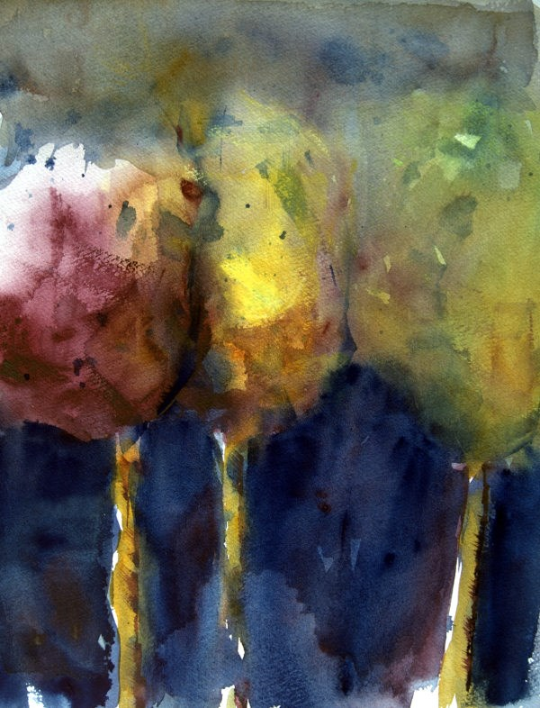 """Three Young Maples"" original fine art by Amy Bryce"