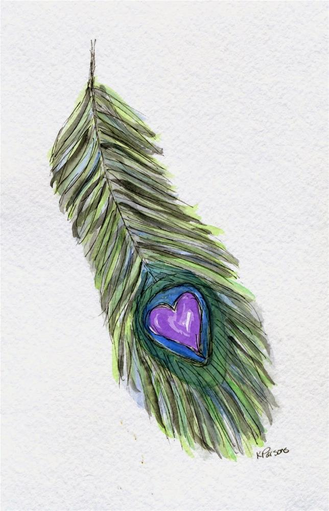 """Feathered Love"" original fine art by Kali Parsons"