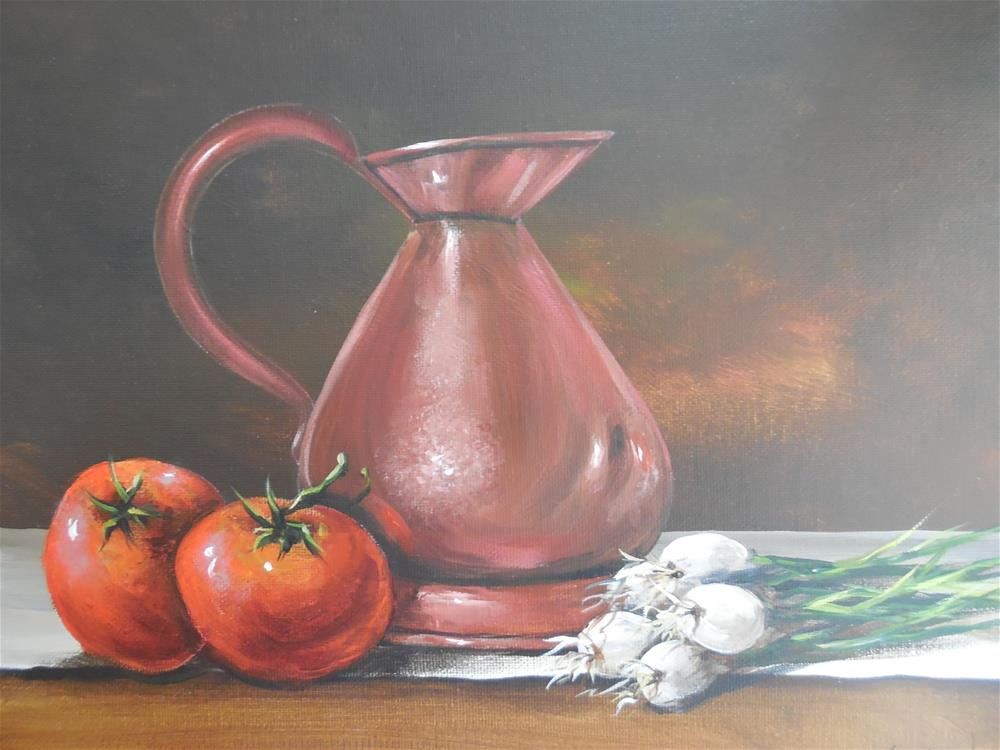 """Copper Pot"" original fine art by Terri Nicholson"