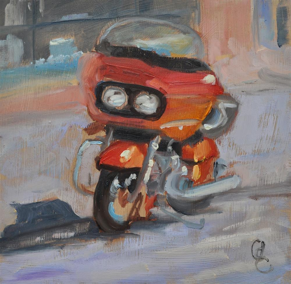 """Ready to Ride"" original fine art by Catherine Crookston"