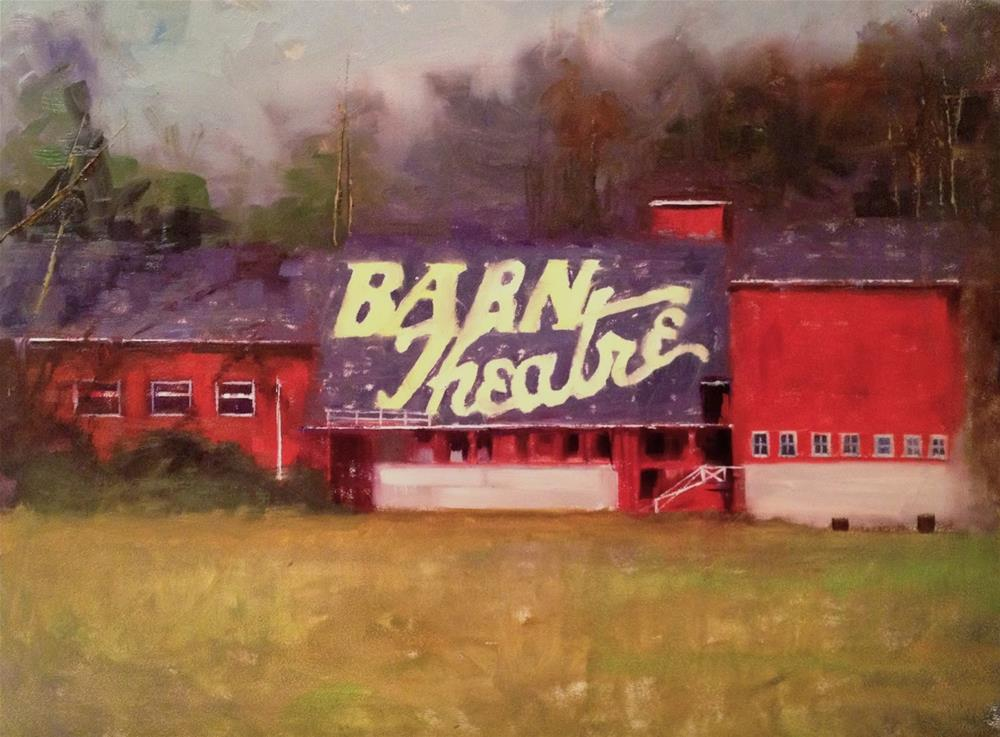 """The Barn Theater, 16x12"" original fine art by Ann Feldman"