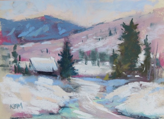 """Another Day to Paint in the Snow"" original fine art by Karen Margulis"