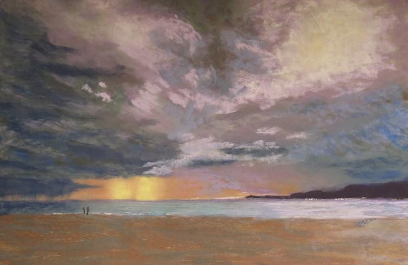 """Storm over the Libyan Sea"" original fine art by Ruth Mann"