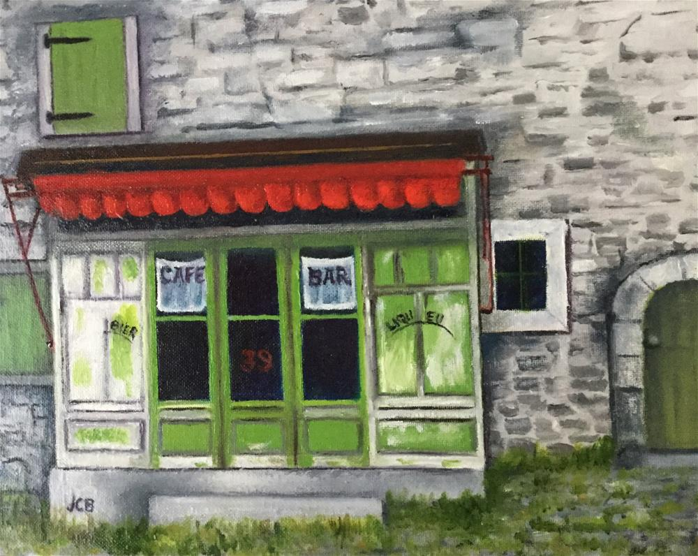 """French Cafe"" original fine art by Jeanne Bossart"