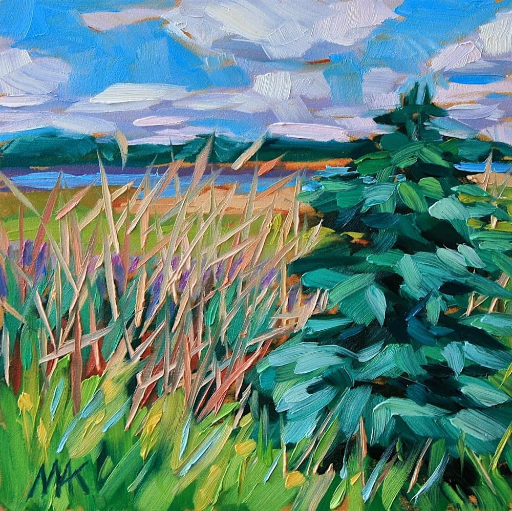 """""""Grass and Pine"""" original fine art by Mary Anne Cary"""