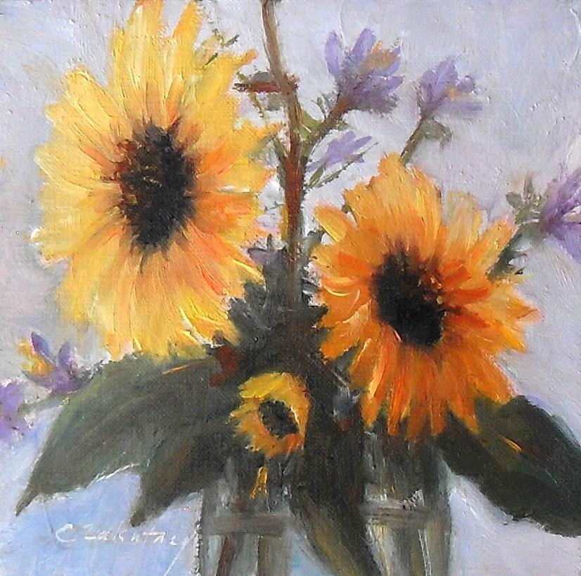 """""""Wildflowers"""" original fine art by Catherine Zakutney"""