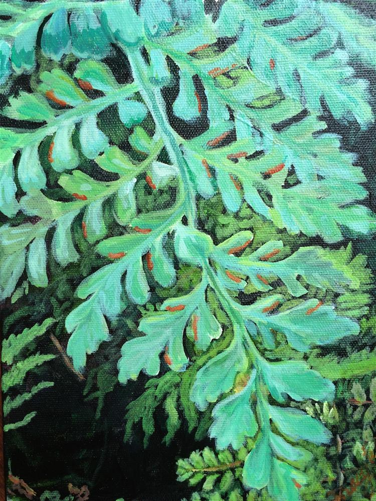 """Living Wall Ferns -- Longwood Gardens"" original fine art by Tracy Feldman"