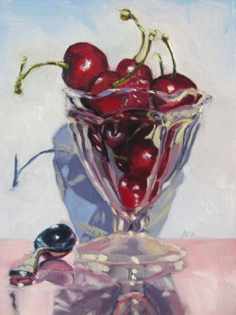 """BE MY CHERRY SUNDAE"" original fine art by Mb Warner"