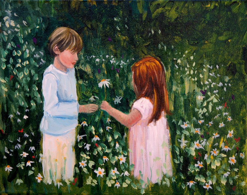 """Little Lovers"" original fine art by Hilary J. England"