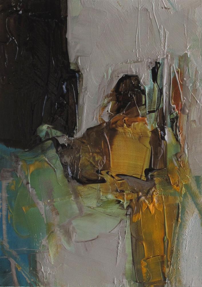 """ACEO Original Oil Painting Art THE STORYTELLER"" original fine art by Colette Davis"