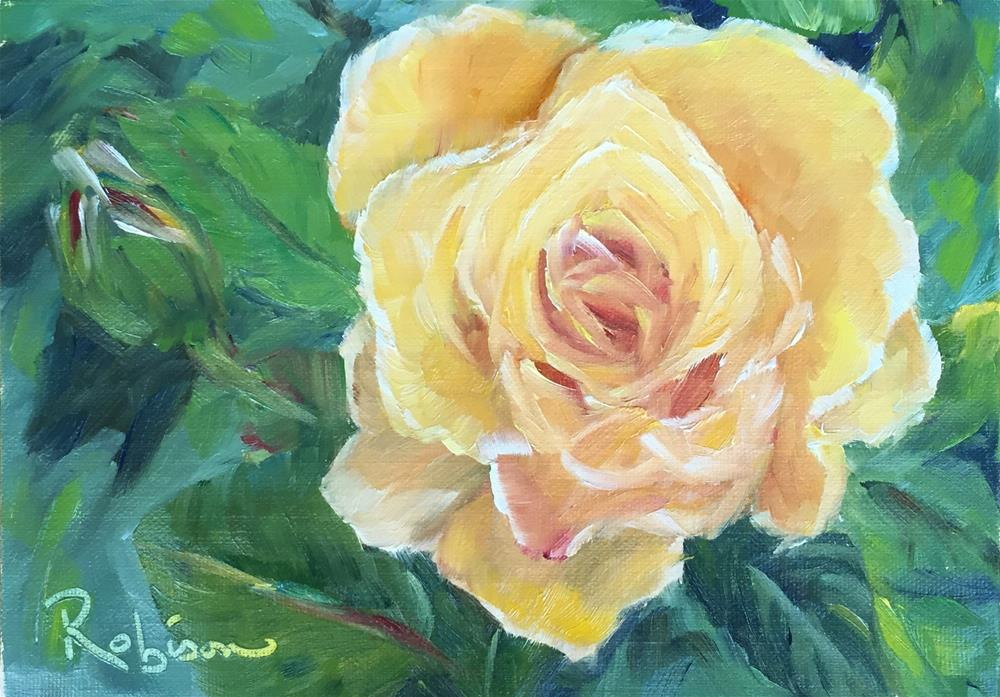 """Rose Study:  6 of 10"" original fine art by Renee Robison"
