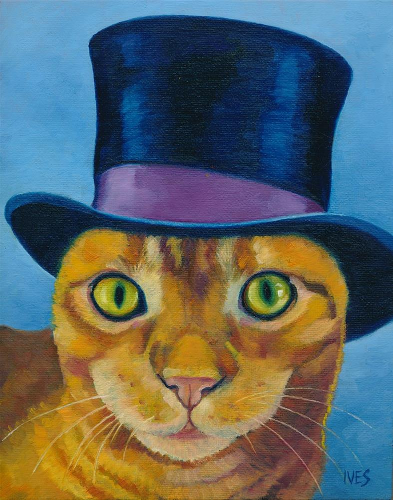 """Tophat Cat"" original fine art by Rk Ives"