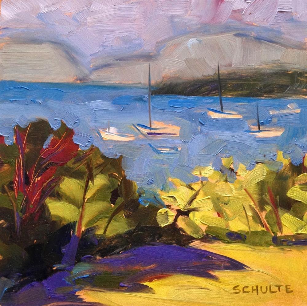 """""""Purple Shadow, Lavender Sky"""" original fine art by Lynne Schulte"""