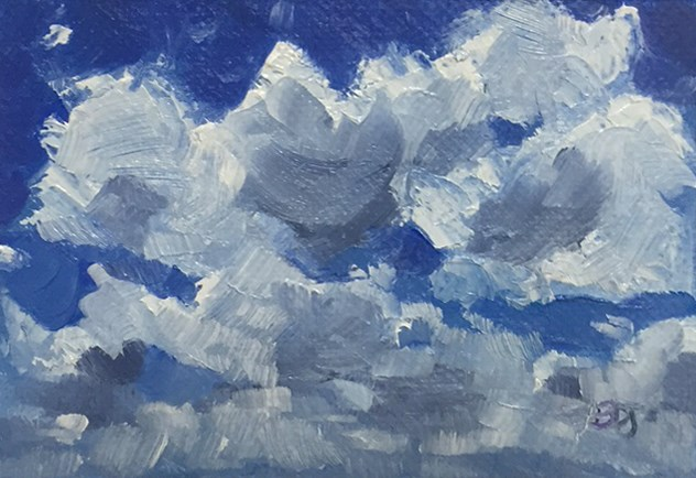 """Clouds 6"" original fine art by Elizabeth Dawn Johnston"