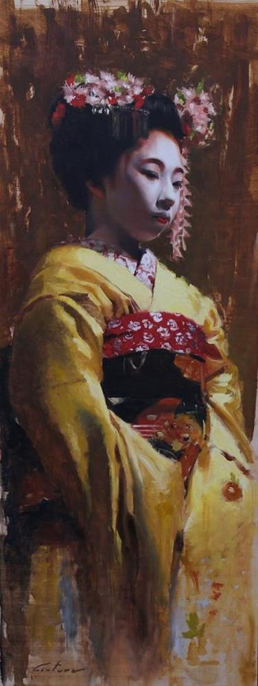 """Young Maiko"" original fine art by Phil Couture"