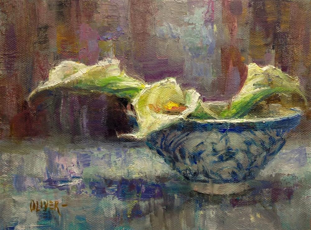 """Calla Lily Trio"" original fine art by Julie Ford Oliver"