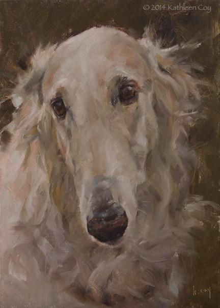 """47 - Borzoi"" original fine art by Kathleen Coy"