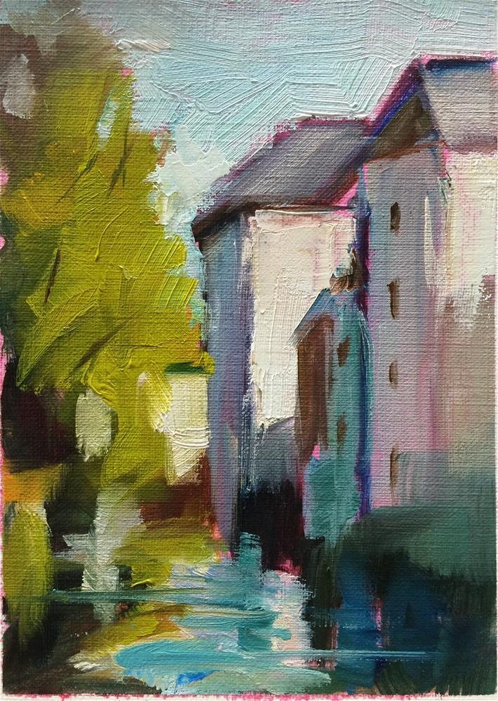 """Water City"" original fine art by Naomi Bautista"