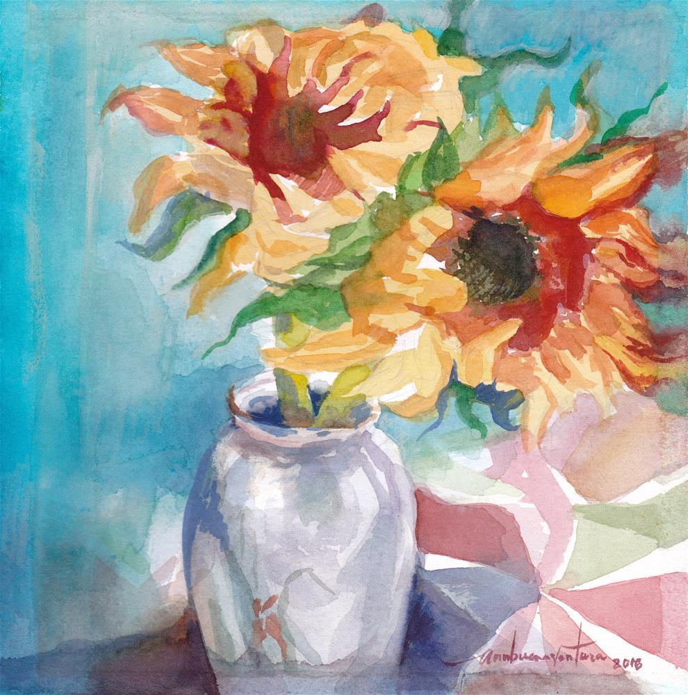 """""""Wilted"""" original fine art by Ann Buenaventura"""