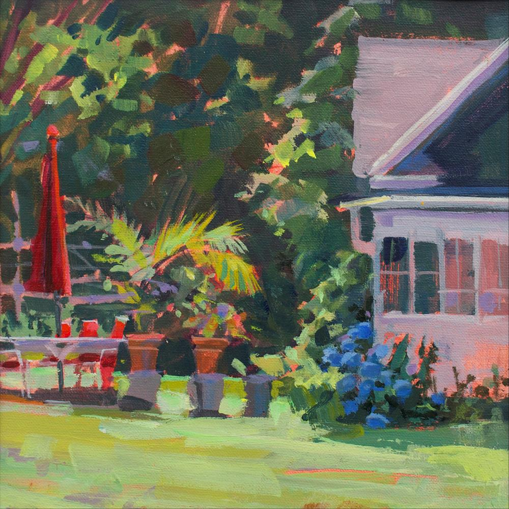 """Ray and Margaret's Backyard"" original fine art by Patti Mollica"