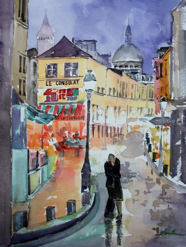 """City of Light, Montmartre, Paris"" original fine art by Lisa Fu"