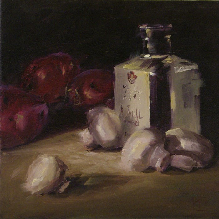 """White Wine Vinegar"" original fine art by Lori Twiggs"