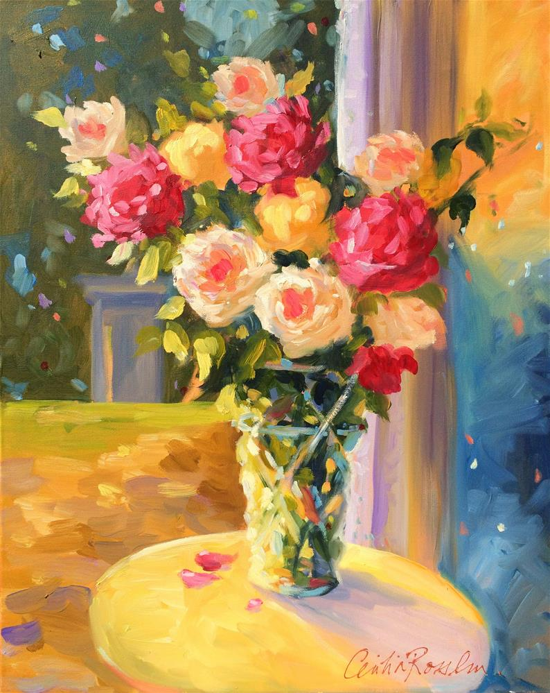 """SPILHAUSE ROSES"" original fine art by Cecilia Rosslee"