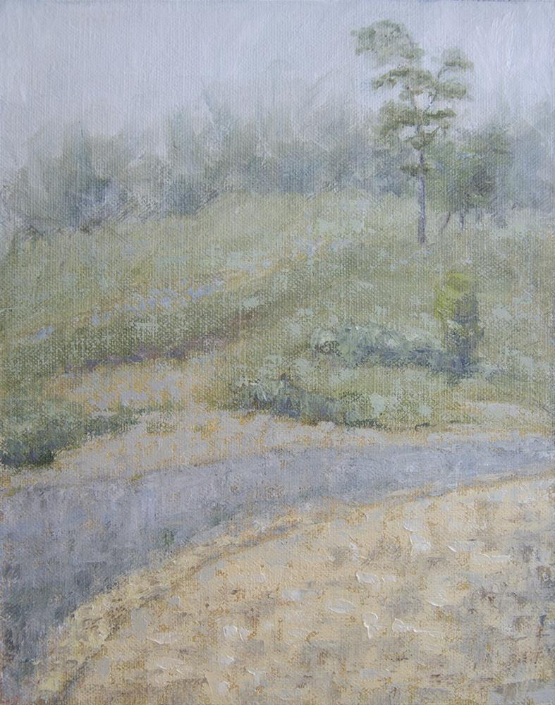"""Foggy Morning June 2016"" original fine art by Rachel Steely"