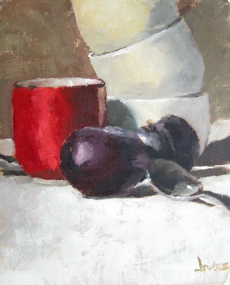 """A Touch of Red"" original fine art by Richard Jones"