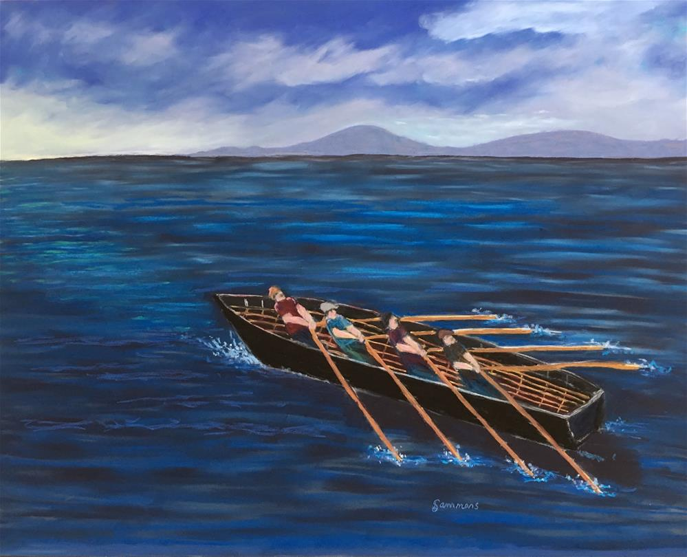 """The Currach"" original fine art by Laurie Sammons"