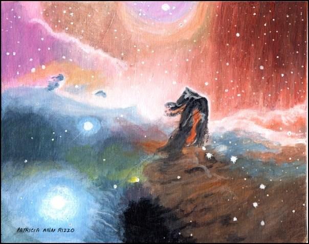 """""""Horsehead Nebula"""" original fine art by Patricia Ann Rizzo"""