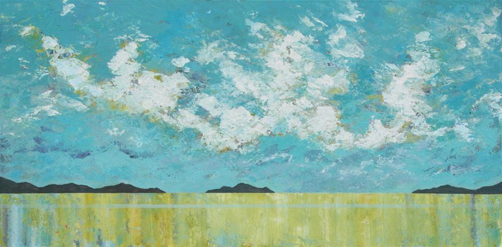 """The Shimmering Sea"" original fine art by Sage Mountain"