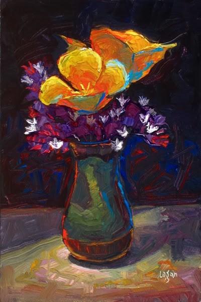 """Mini Bouquet"" original fine art by Raymond Logan"